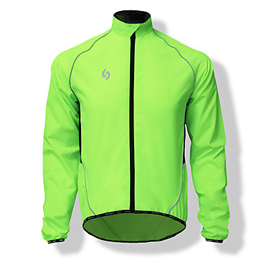 SPAKCT Men's Cycling Jacket Bike Top Windproof Solid Colored Green Mountain Cycling Relaxed Fit Bike Wear / Italy Imported Ink