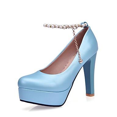 Damen Schuhe Leder / maßgeschneiderte Werkstoffe Frühling / Herbst Komfort / Neuheit / Leuchtende Sohlen High Heels Walking Konischer