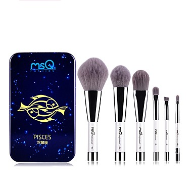 1set Makeup Brushes Professional Makeup Brush Set Synthetic Hair / Fiber Portable / Easy to Carry / Easy Carrying Aluminium / Wood
