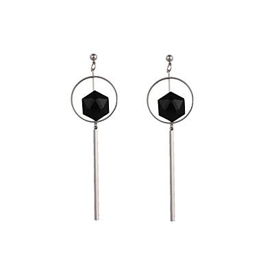 Férfi / Női Hipoallergén Függők - Személyre szabott / Klasszikus / Vintage Ezüst Kör / Geometric Shape Fülbevaló Kompatibilitás Esküvő /