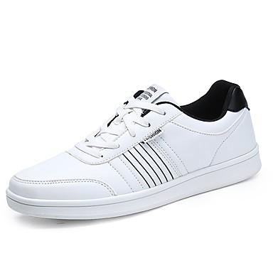 للرجال أحذية PU ربيع / خريف مريح أحذية رياضية أبيض / أسود / أزرق