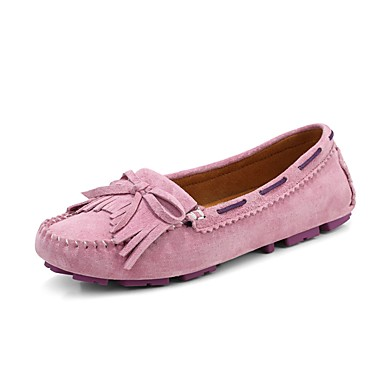 Women's Shoes Synthetic Spring Summer Fall Comfort Light Up Shoes Boat Shoes Walking Shoes Flat Heel Round Toe Split Joint for Casual