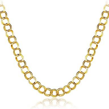Férfi Bohém Hipoallergén Arannyal bevont Rövid nyakláncok  -  Bohém Természet Multi-módon kell viselni Geometric Shape Arany Nyakláncok