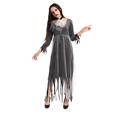 Skelett/Totenkopf Zombie Cosplay Einteilig/Kleid Cosplay Kostüme Haloween Figuren Frau Fest/Feiertage Halloween Kostüme Halloween Karneval
