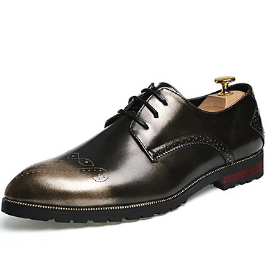 Men's Formal Shoes Patent Leather Fall / Winter Oxfords Black / Red / Light Brown / Party & Evening / Brogue / Dress Shoes