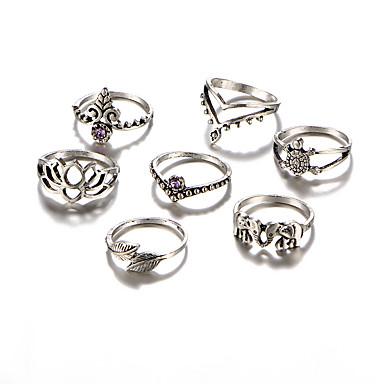 Női Kristály / Szintetikus gyémánt Luxus / Bohém / Hipoallergén Ékszer szett - Luxus / Bohém / Hipoallergén Circle Shape / Geometric