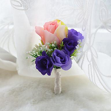 Esküvői virágok Virágkitűzők Esküvő Organza / Szatén 3.94 hüvelyk