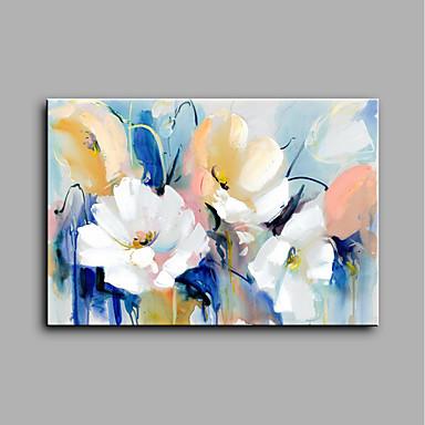 رسمت باليد الأزهار/النباتية أفقي, الحديث كنفا هانغ رسمت النفط الطلاء تصميم ديكور المنزل لوحة واحدة
