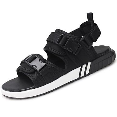 Men's Canvas Summer / Fall Comfort Sandals Upstream Shoes Black