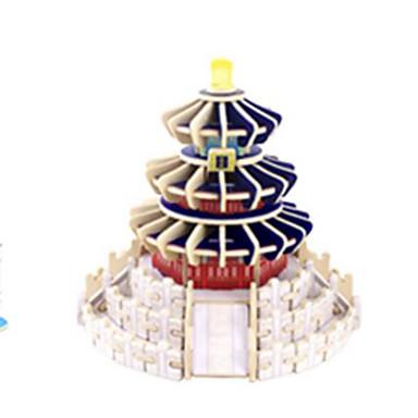 3D - Puzzle Holzpuzzle Holzmodelle Berühmte Gebäude Holz Naturholz Kinder Unisex Geschenk