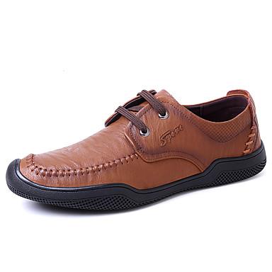 Férfi cipő Bőr Ősz / Tél Kényelmes Félcipők Sötétbarna / Khakizöld