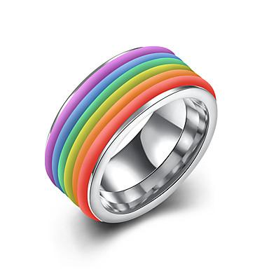 Férfi Rozsdamentes acél Gyűrű - Kör Személyre szabott Arany / Ezüst Gyűrű Kompatibilitás Parti / Iroda / Karrier / Napi