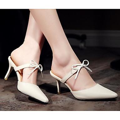 Damen Schuhe Echtes Leder PU Sommer Komfort Pumps High Heels Für Normal Beige Mandelfarben