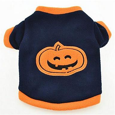 Dog Shirt / T-Shirt Dog Clothes Pumpkin Cotton Costume For Pets Summer Men's / Women's Halloween