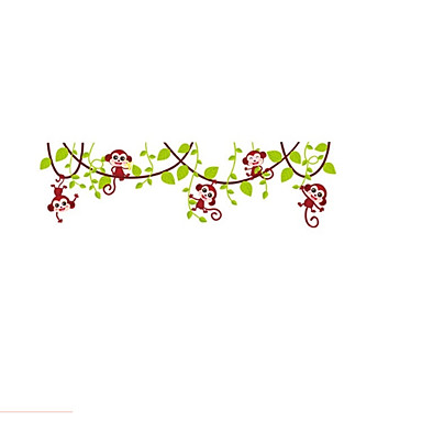 Állatok Romantika Virágok Falimatrica Repülőgép matricák Dekoratív falmatricák, Papír Vinil lakberendezési fali matrica Fal Ablak
