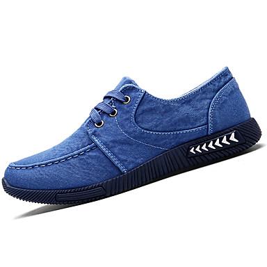 Herrn Schuhe PU Frühling Herbst Komfort Sportschuhe für Draussen Grau Marinenblau Blau