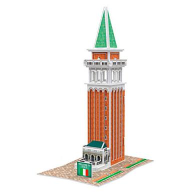 3D építőjátékok Fejtörő Papírmodell Népszerű épület Ház DIY Kartonpapír Gyermek Uniszex Ajándék