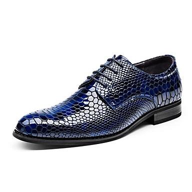 Hombre Zapatos Cuero Patentado Otoño / Invierno Confort / Innovador Zapatos de boda Paseo Marrón / Rojo / Azul / Boda / Fiesta y Noche vVCNPgl