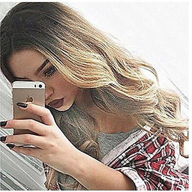 Synthetic Wig Wavy / Body Wave Blonde Synthetic Hair Heat Resistant / Ombre Hair Blonde Wig Women's Long Capless Pink Grey Blonde