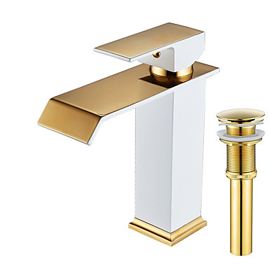 Faucet Set - Waterfall Painting Centerset Single Handle One Hole