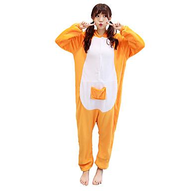 Kigurumi pizsama Kenguru Onesie pizsama Jelmez Bolyhos pamutszövet Sárga Cosplay mert Allati Hálóruházat Rajzfilm Halloween Fesztivál /