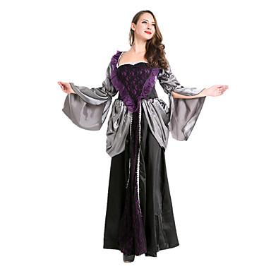 Königin Märchen Engel & Teufel Vampire Einteilig/Kleid Frau Halloween Karneval Fest/Feiertage Halloween Kostüme Vintage