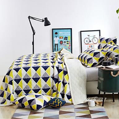 Superweich Schottenstoff/Kariert Gemischte Polyester/Baumwolle Decken