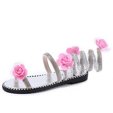 Damen Schuhe PU Sommer Komfort Sandalen Für Normal Gold Silber