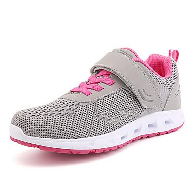 Damen Schuhe Tüll Sommer Herbst Komfort Sportschuhe Walking Plattform Runde Zehe Schnürsenkel für Sportlich Normal Draussen Dunkelblau