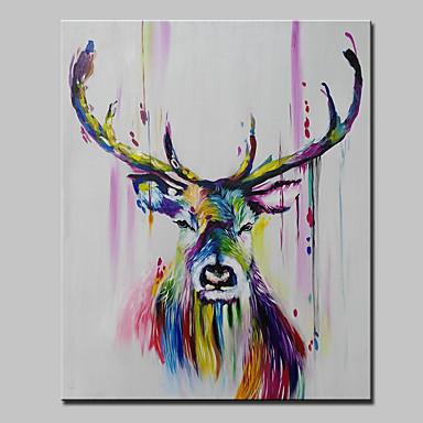Hang-Painted öljymaalaus Maalattu - Abstrakti Eläimet Pop Art Moderni Kangas