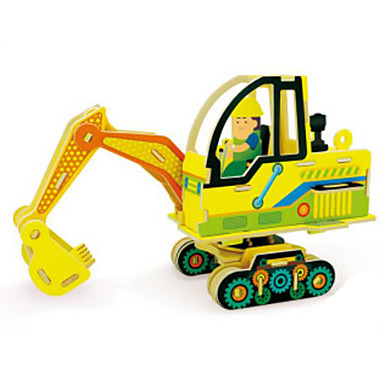 Spielzeug-Autos 3D - Puzzle Holzpuzzle Holzmodell Baustellenfahrzeuge Spielzeuge Aushebemaschinen 3D Holz Naturholz Unisex Jungen Stücke