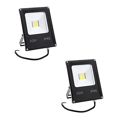 2pcs 20 W LED Floodlight / Lawn Lights Waterproof / Decorative Warm White / Cold White 85-265 V Outdoor Lighting 1 LED Beads
