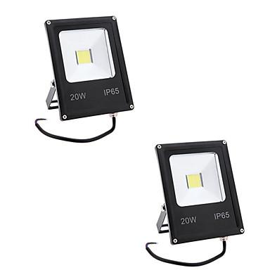 2pcs 20 W LED projektorok / Lawn Lights Vízálló / Dekoratív Meleg fehér / Hideg fehér 85-265 V Kültéri világítás 1 LED gyöngyök