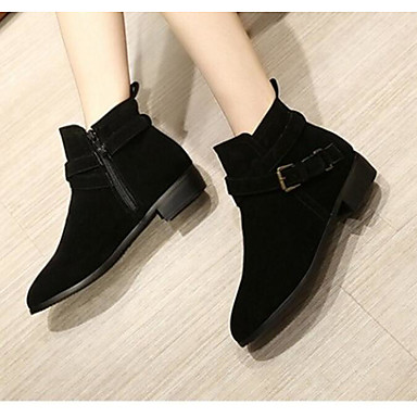 Damen Schuhe PU Sommer Herbst Komfort Stiefel Für Normal Schwarz Braun