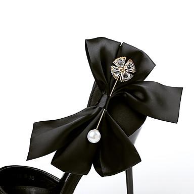 Gris Mariage 06086345 Polyuréthane Eté Perle Satin en Femme Bout Nouveauté Aiguille Fleur Rouge Sandales Talon Chaussures pointu Noir awxx5ETq6
