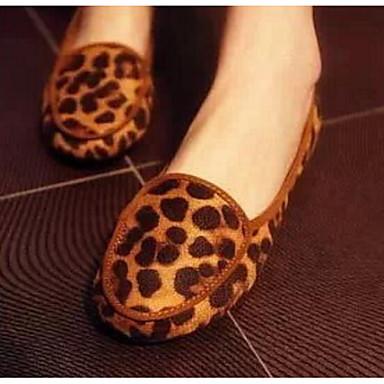 Damen Schuhe Polyamid-Faser PU Frühling Sommer Komfort Flache Schuhe Für Normal Leopard