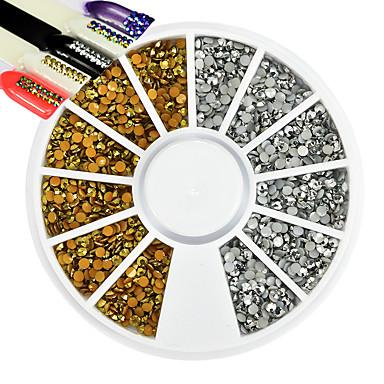 1 pcs Köröm DIY eszközök Körömékszerek Strassz Menő / Szeretetreméltő / 3D köröm művészet manikűr Pedikűr Napi Glitters / Művészi / Luxus / Köröm ékszer