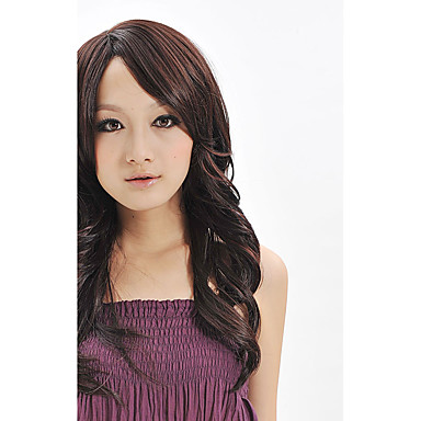 Synthetische Perücken Schwarz Kappenlos Natürliche Perücke Lang Synthetische Haare