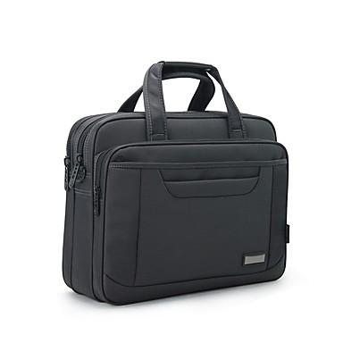 Herrn Taschen Oxford Tuch Laptop Tasche Reißverschluss für Normal Draussen Büro & Karriere Ganzjährig Grau
