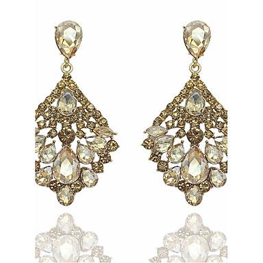 Women's Chandelier Drop Earrings - Drop Statement Ladies Fashion Jewelry Gold / Green For Wedding Party