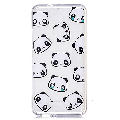 Case For Xiaomi Transparent / Pattern Back Cover Cartoon / Panda Soft TPU for Xiaomi Redmi Note 4 / Xiaomi Redmi Note 3