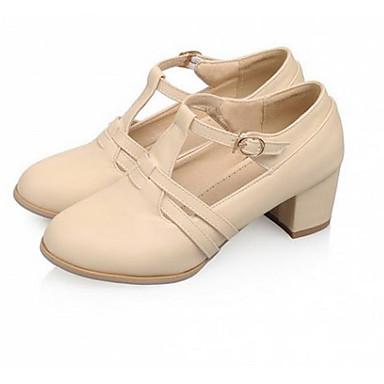 Damen Schuhe PU Sommer Komfort High Heels Für Normal Beige Blau Rosa