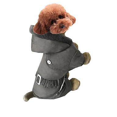 Hund Overall Hundekleidung Solide Grau Rot Rosa Baumwolle Kostüm Für Haustiere Herrn Damen Lässig/Alltäglich Sport