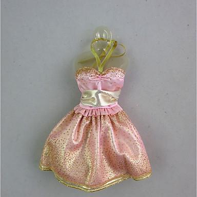 Bájos Ruha mert Barbie baba Rose Gold Ruha mert Lány Doll Toy