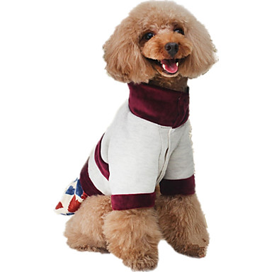 Dog Jumpsuit Dog Clothes Leaf Coffee Cotton Costume For Pets Men's / Women's Casual / Daily