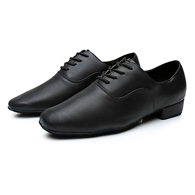 4e4a38ca5d7 Ανδρικά Παπούτσια χορού λάτιν Δερματίνη Αθλητικά Προσαρμοσμένο τακούνι  Εξατομικευμένο Παπούτσια Χορού Μαύρο / Εσωτερικό