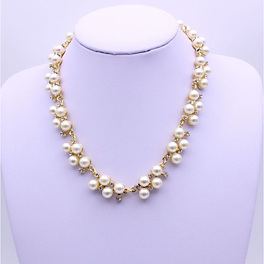 Women's Synthetic Diamond Chain Necklace - Classic, Fashion Gold, Silver Necklace For Party, Gift, Daily