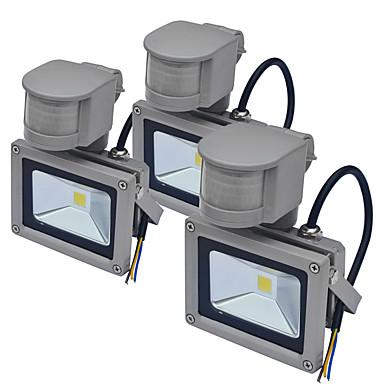 billige Utendørsbelysning-Jiawen 3pcs sensor led flom lys utendørs menneskekroppen induksjon spotlight floodlight 10w ip65 vanntett hage belysning ac85-265 v