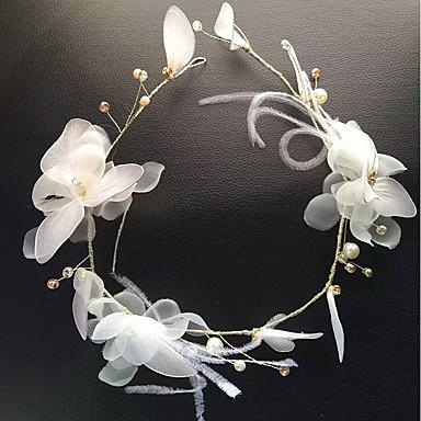 Tüll Feder Stoff Seide net Stirnbänder Blumen Kopfschmuck eleganten Stil