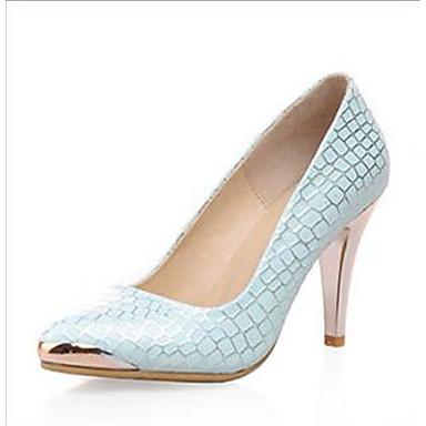 Damen Schuhe PU Frühling Komfort High Heels für Normal Weiß Blau